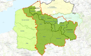 ALARM INTERREG V map homepage