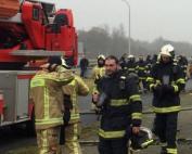 oefening Franse en Belgische brandweer in Hensies