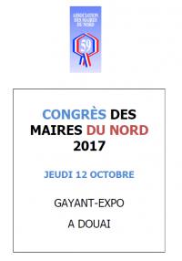 congres des maires du Nord